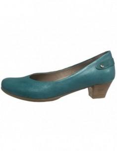 Balerini dama, piele naturala, marca Softwaves, Cod 61810-06-82, culoare verde