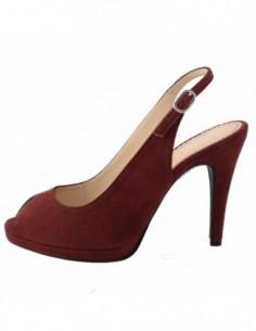 Sandale dama, piele naturala, marca Guban, Cod 768705-23, culoare visiniu