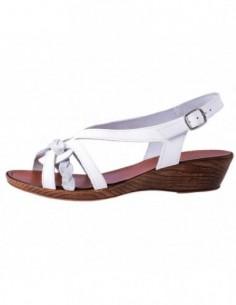 Sandale dama, piele naturala, marca Johnny, Cod 781-031-K2, culoare alb satin