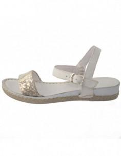 Sandale dama, piele naturala, marca Walk, Cod 90293-3, culoare bej