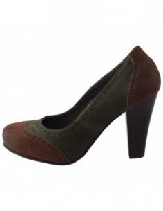 Pantofi dama, piele naturala, marca Johnny, Cod 9401V-6, culoare verde