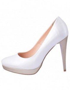 Pantofi dama, piele naturala, marca Botta, Cod 954-K2, culoare alb satin