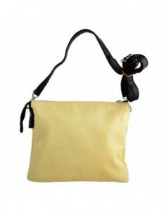 Poseta dama, piele naturala, marca Meralli, Cod 9-8, culoare galben