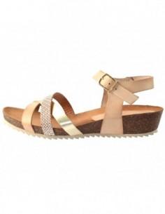 Sandale dama, piele naturala, marca Marila, Cod 9802-b8-36-3, culoare bej