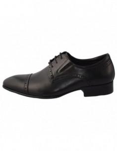 Pantofi barbati, piele naturala, marca Eldemas, Cod A507-381-1, culoare negru