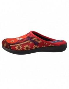 Papuci de casa dama, textil, marca Inblu, Cod BQ113-003RO-5, culoare rosu