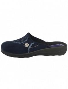 Papuc de casa dama, textil, marca Inblu, Cod CA-87-42, culoare bleumarin