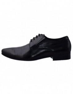 Pantofi eleganti barbati, din piele naturala, marca Saccio, 130916-01-17, negru