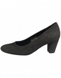 Pantofi dama, piele naturala, marca Gabor, Cod GB52150-87-87, culoare negru cu gri