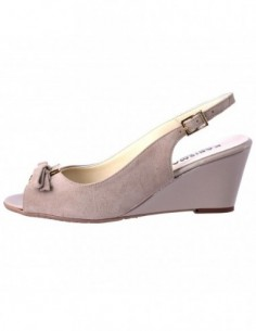 Sandale dama, din piele naturala, marca Karisma, LZ156-3, bej