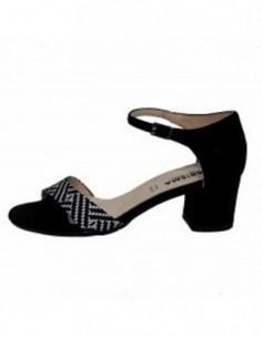 Sandale dama, piele naturala, marca Karisma, Cod LZB679-01-103, culoare negru