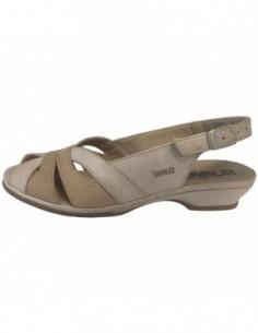 Sandale dama, piele naturala, marca Suave, Cod O816T-3, culoare bej