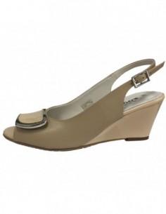 Sandale dama, din piele naturala, marca Zodiaco, RBA057-3, bej