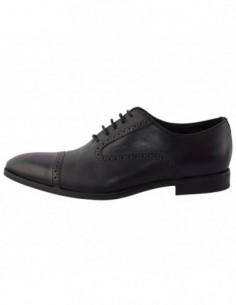 Pantofi barbati, din piele naturala, marca Geox, U44P4E-1, negru