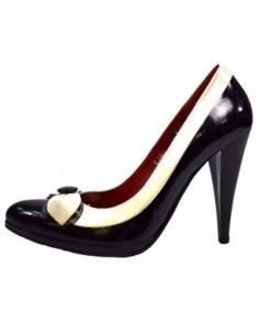 Pantofi dama, din piele naturala, marca Perla, 1043-1, negru