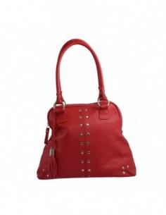 Poseta dama, piele naturala, marca Gina Hess, Cod 111-5, culoare rosu
