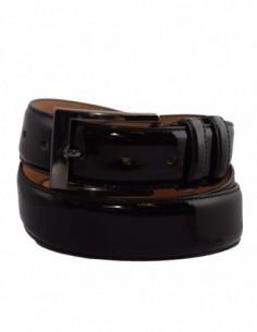 Curea barbati, piele naturala, marca Bond, Cod 120-1, culoare negru
