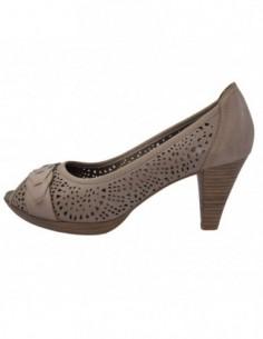 Pantofi dama, din piele naturala, marca Marco Tozzi, 2-29315-24anticPepper, pepper antic