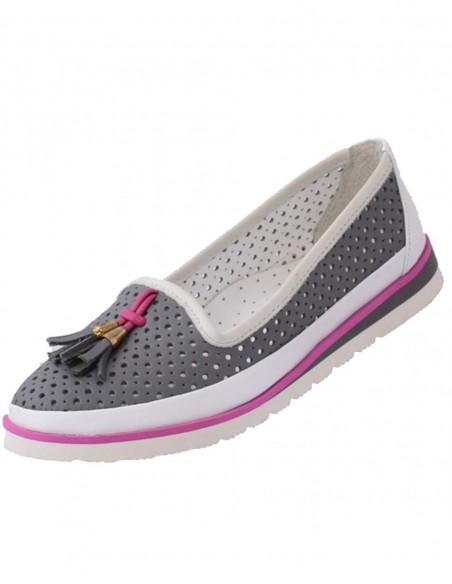 Pantofi Soft Breeze din piele naturala lacuita negru 7212A 01
