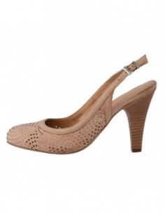 Pantofi decupati dama, piele naturala, marca Johnny, Cod 2631-3, culoare bej