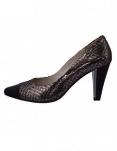 Pantofi dama, piele naturala, marca Deska, Cod 27301-1, culoare negru