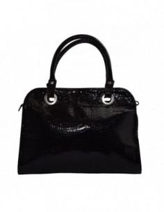 Poseta dama, piele naturala, marca Gina Hess, Cod 3002-1, culoare negru