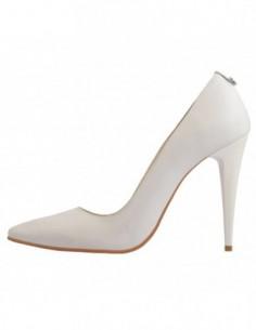 Pantofi dama, din piele naturala, marca Botta, 632-13-05, alb satin