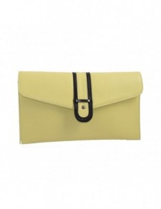 Poseta dama, piele naturala, marca Desisan, Cod 3126-8, culoare galben