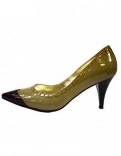 Pantofi dama, din piele naturala, marca Perla, 3139-14, gri