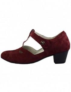 Pantofi decupati dama, din piele naturala, marca Waldlaufer, 358302-E8, visiniu inchis