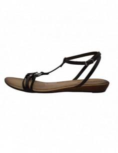 Sandale dama, piele naturala, marca Johnny, Cod 4385-1, culoare negru