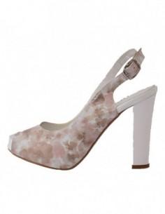 Sandale dama, din piele naturala, marca Botta, 455-77, alb cu flori