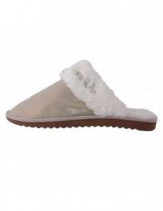 Papuci de casa dama, piele naturala, marca sOliver, Cod 5-27100-25-M1, culoare nisip