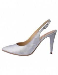 Pantofi dama, piele naturala, marca Botta, Cod 527-18, culoare argintiu