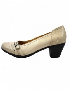 Pantofi dama, piele naturala, marca Reflexan, Cod 56310-69-3, culoare bej