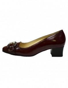 Pantofi dama, piele naturala, marca Covi, Cod 563-E8, culoare visiniu inchis