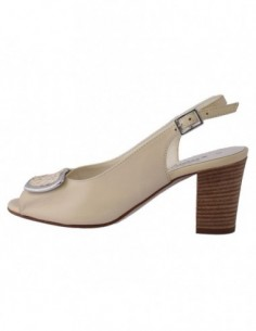 Sandale dama, din piele naturala, marca Zodiaco, 57-52, crem
