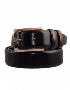 Curea barbati, piele naturala, marca Bond, Cod 6000-1, culoare negru