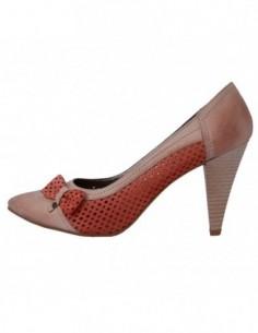 Pantofi dama, din piele naturala, marca Endican, 604-37, corai