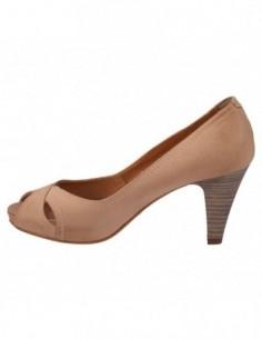 Pantofi decupati dama, piele naturala, marca Johnny, Cod 6604-3, culoare bej