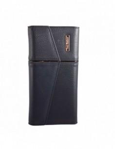 Portofel dama, piele naturala, marca Bond, Cod 703-42, culoare bleumarin