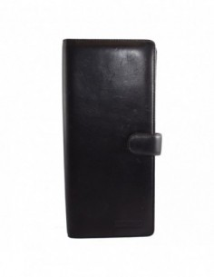 Portcard, din piele naturala, marca Bond, 7200-1, negru