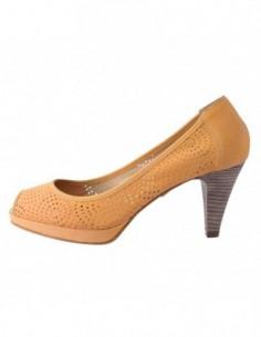 Pantofi decupati dama, piele naturala, marca Johnny, Cod 7912-8, culoare galben