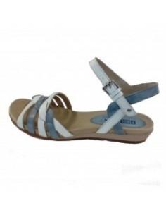 Sandale dama, piele naturala, marca Pikolinos, Cod 816-0662-13-14-21, culoare alb satin