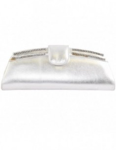 Plic dama, din piele naturala, marca Meralli, 8-18, argintiu