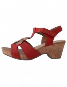 Sandale dama, din piele naturala, marca Jana, 8-28319-20-5, rosu
