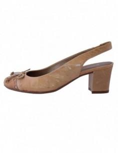 Pantofi decupati dama, din piele naturala, marca Gatta, 91207-3, bej