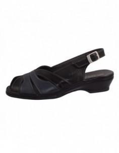 Sandale dama, piele naturala, marca Suave, Cod B0816T-1, culoare negru