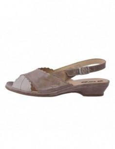 Sandale dama, piele naturala, marca Suave, Cod B0817-3, culoare bej