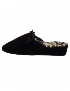 Papuc de casa dama, piele naturala, marca Gioseppo, Cod B16086-1, culoare negru
